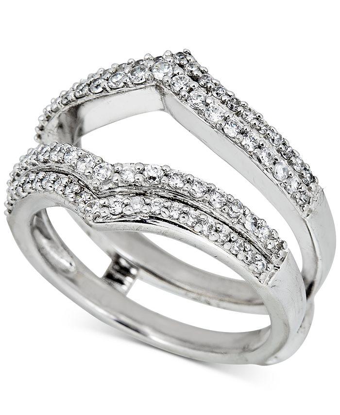 Macy's - Diamond Double V Enhancer Ring (1/2 ct. t.w.) in 14k White Gold