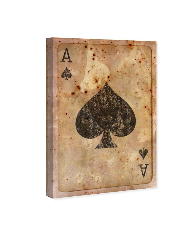 """Oliver Gal Ace of Spades Canvas Art, 24"""" x 36"""""""