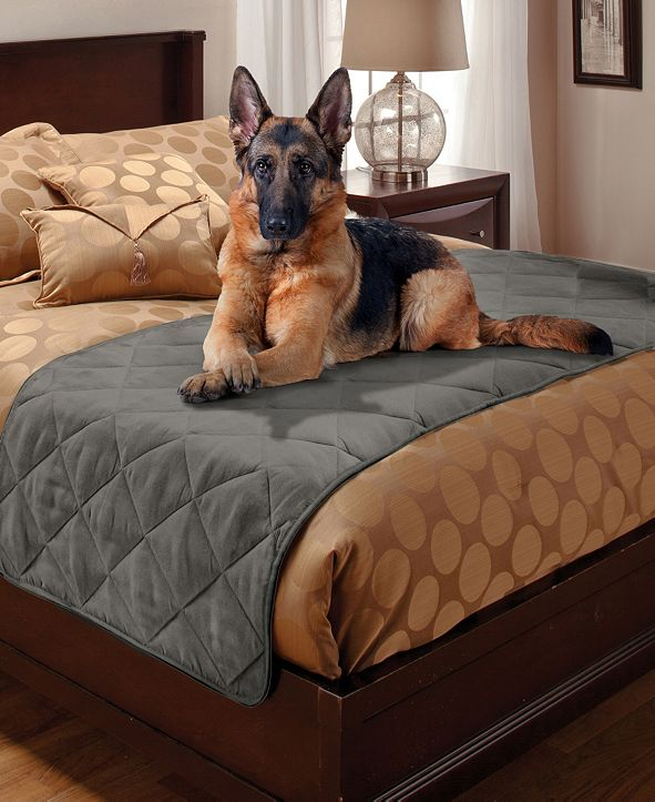 P/Kaufmann Home Pet Pals Quilted Faux Suede Full/Queen Bed Protector