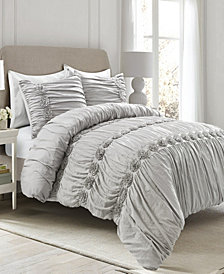 Darla Ruched 3-Piece King Comforter Set