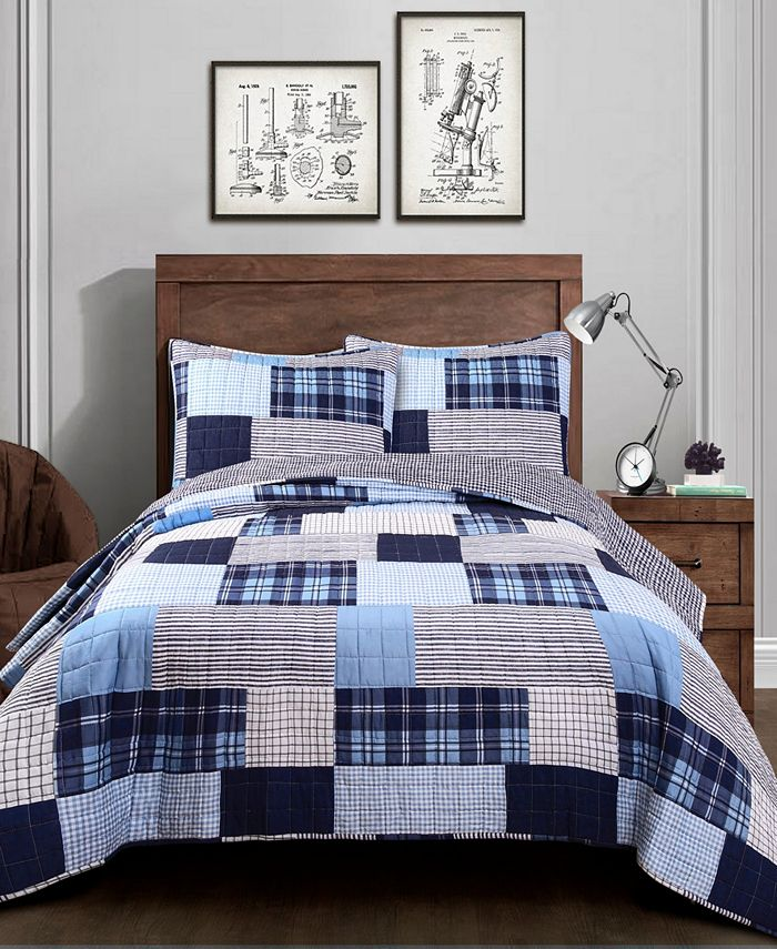 Lush Décor - Greenville 2Pc Twin Quilt Set
