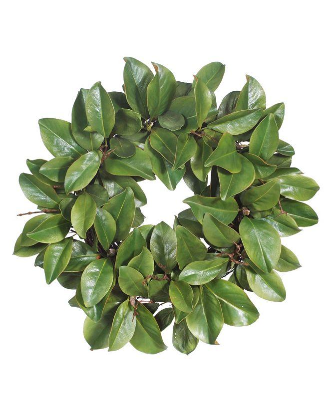 Winward Silks Permanent Botanicals Magnolia Leaf Twig Wreath