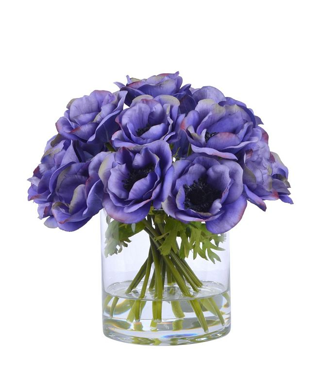 Winward Silks Permanent Botanicals Poppy in Glass