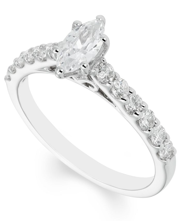 Macy's - Certified Diamond (1 ct. t.w.) Engagement Ring in 14k White Gold