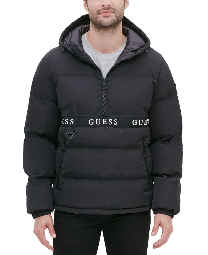 GUESS - Men's Hooded Popover Puffer