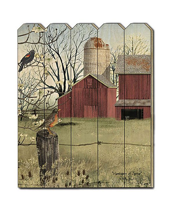 "Trendy Decor 4U Harbingers of Spring by Billy Jacobs, Printed Wall Art on a Wood Picket Fence, 16"" x 20"""