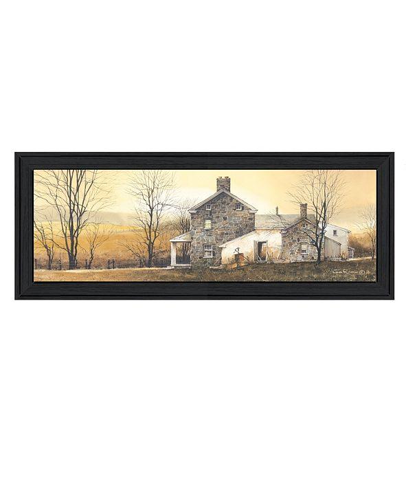 "Trendy Decor 4U A New Day By John Rossini, Printed Wall Art, Ready to hang, Black Frame, 21"" x 9"""