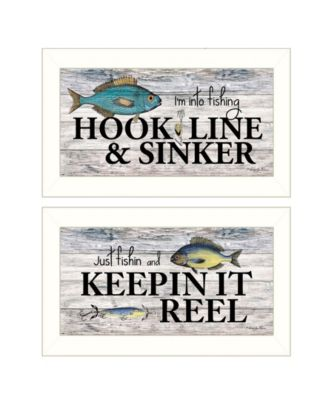 Fishing Combo 2-Piece Vignette by Robin-Lee Vieira, Black Frame, 20