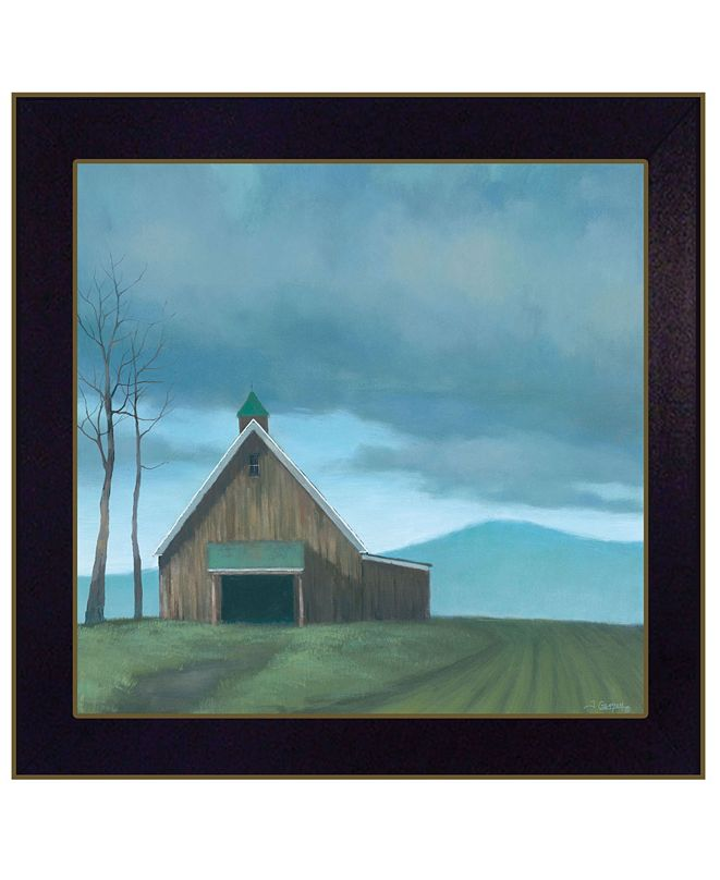 "Trendy Decor 4U Lonesome Barn by Tim Gagnon, Ready to hang Framed Print, Black Frame, 14"" x 14"""