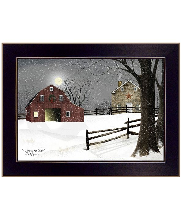 "Trendy Decor 4U Light in the Stable by Billy Jacobs, Ready to hang Framed Print, Black Frame, 26"" x 20"""