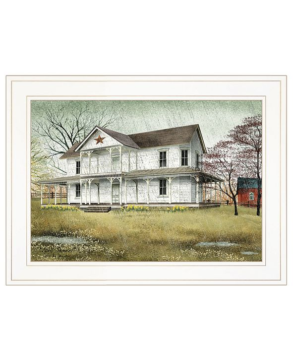 "Trendy Decor 4U April Showers by Billy Jacobs, Ready to hang Framed Print, White Frame, 19"" x 15"""