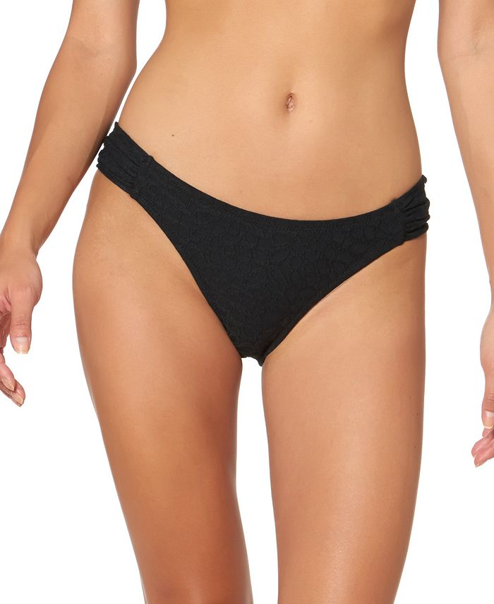 Jessica Simpson - Rose Bay Textured Shirred Bikini Bottoms