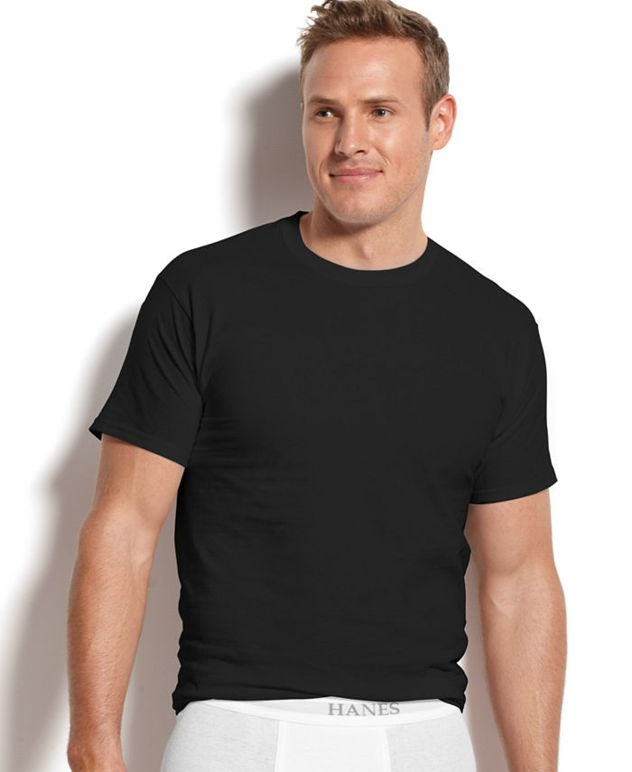 Hanes - Men's Underwear, Crew Neck T-Shirt 4 Pack