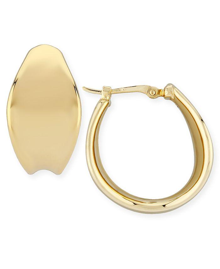 Macy's - Bold Graduated Hoop Earrings Set in 14k Yellow Gold