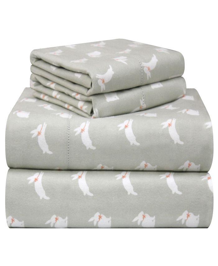 Pointehaven - Printed Flannel Cal King Sheet Set