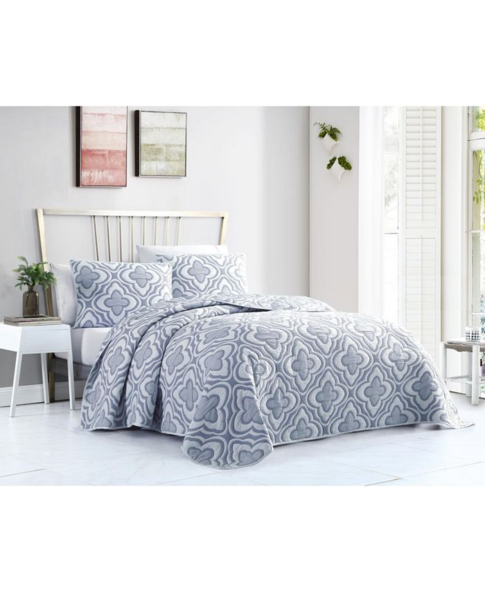 VCNY Home - Mauer Matelasse 3PC Full/Queen Quilt Set