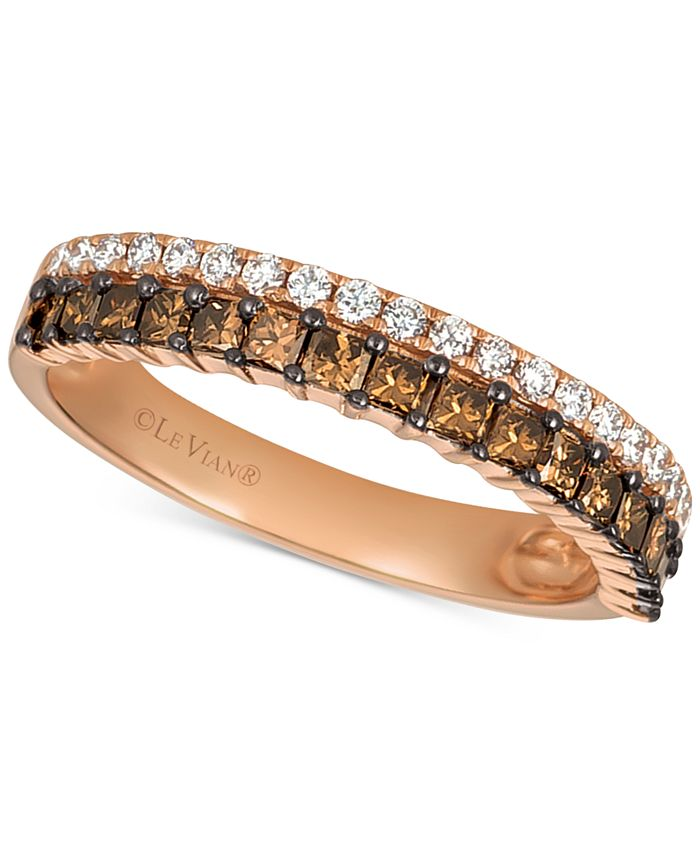 Le Vian - Diamond Princess Double Row Band (5/8 ct. t.w.) in 14k Rose Gold