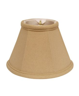Cloth&Wire Slant Linen Chandelier Lampshade with Flame Clip