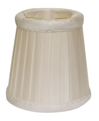 Cloth&Wire Slant Side Pleat Chandelier Lampshade with Flame Clip