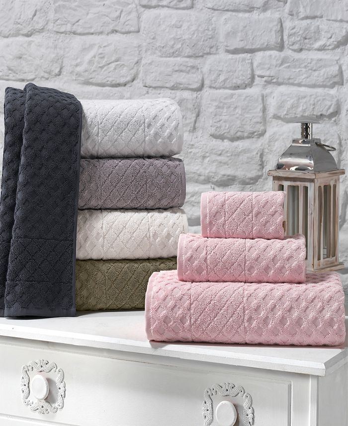 Enchante Home - Glossy Turkish Cotton 8-Pc. Washcloth Set