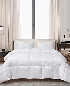 Ultra-Soft Nano-Touch Light Warmth White Down Fiber Comforter, King