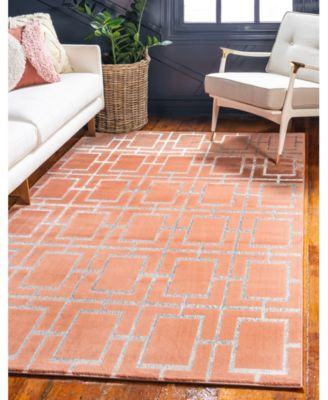 Glam Mmg002 Coral/Silver 4' x 6' Area Rug