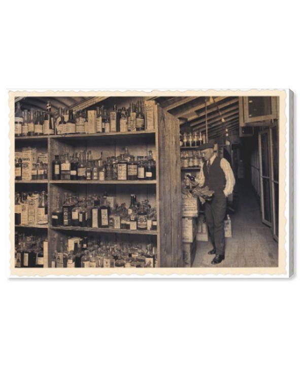 "Oliver Gal All Those Old Bottles Canvas Art, 24"" x 16"""