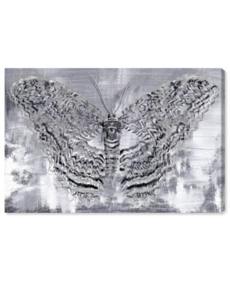 Silver Winged Butterfly Canvas Art, 15