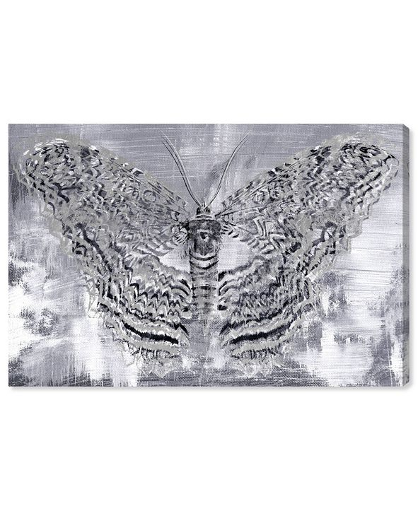 """Oliver Gal Silver Winged Butterfly Canvas Art, 15"""" x 10"""""""