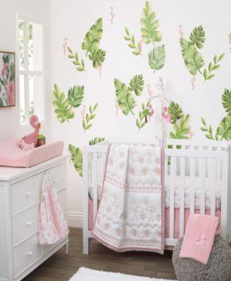Tropical Flamingo 4-Piece Crib Bedding Set