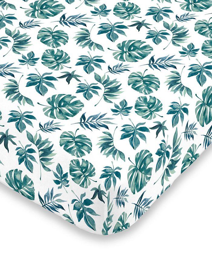NoJo - Nojo Palm Leaf Crib Sheet