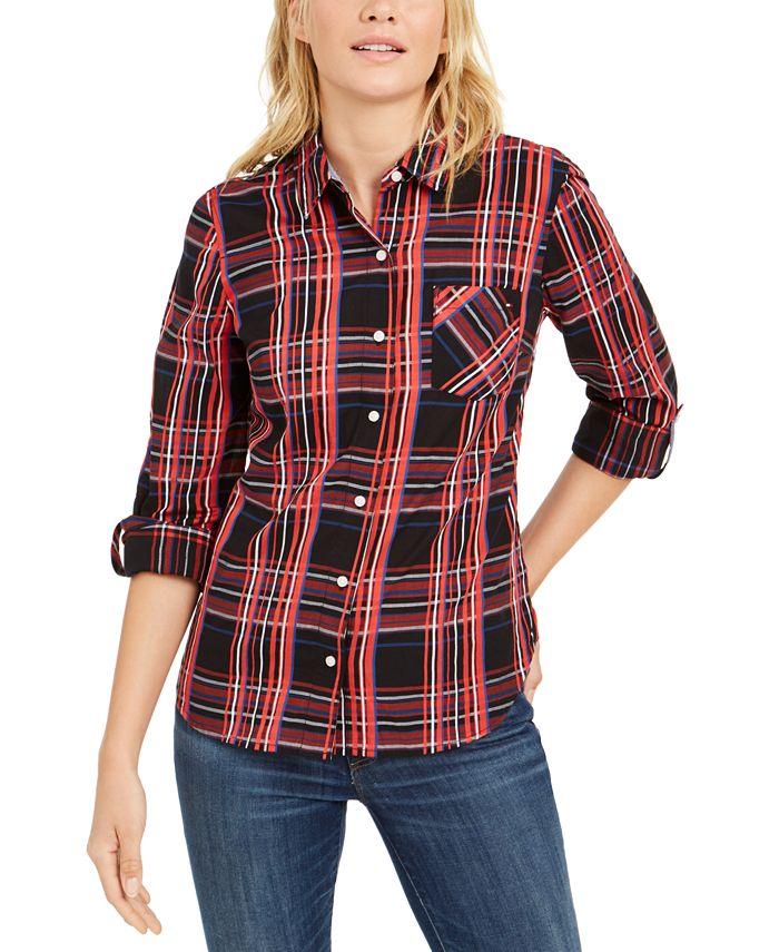 Tommy Hilfiger - Plaid Cotton Utility Shirt