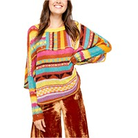 Deals on Free People December Skies Poncho Sweater