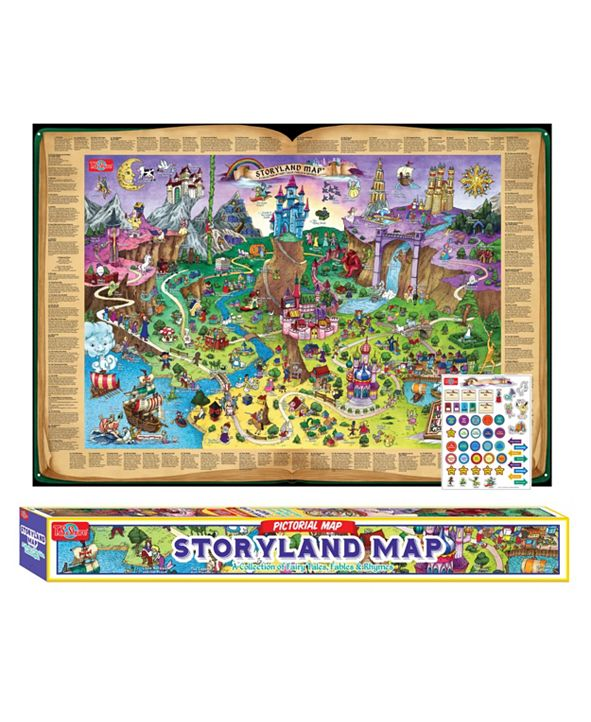 T.S. Shure Storyland Map Pictorial Poster