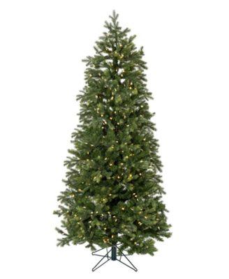 6.5' Pre-lit Slim Christmas Tree with White LED Lights