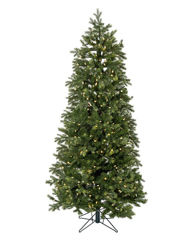 Perfect Holiday 9' Pre-lit Slim Christmas Tree with White LED Lights