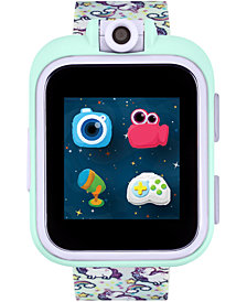 iTouch Kids PlayZoom Rainbow Unicorn Strap Touchscreen Smart Watch 42x52mm