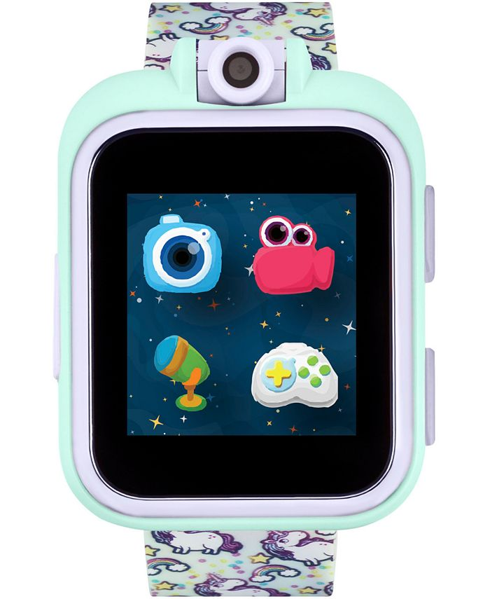 iTouch - Unisex PlayZoom Rainbow Unicorn Strap Touchscreen Smart Watch 42x52mm