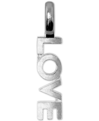 Mini Love Charm Pendant in Sterling Silver