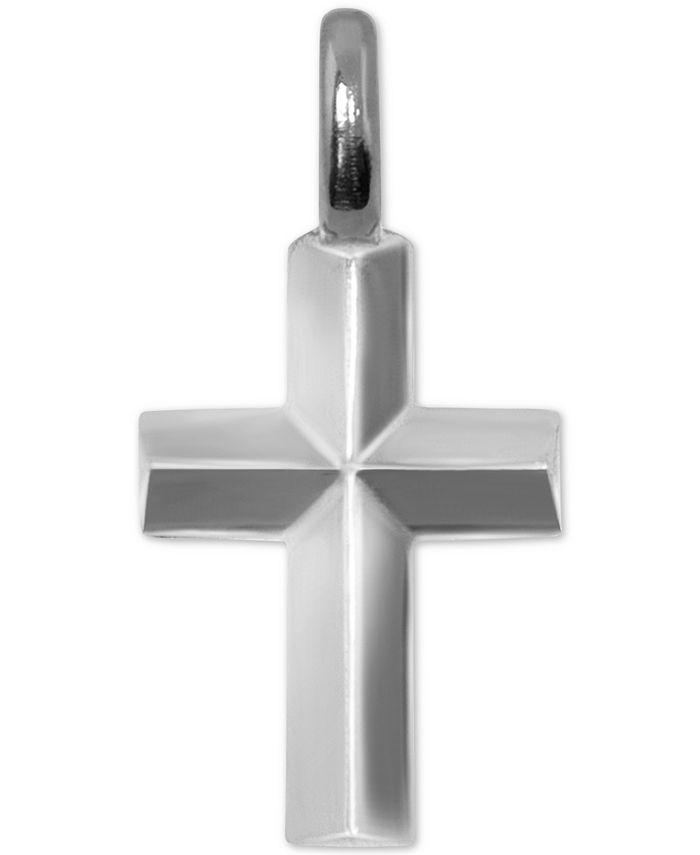 Alex Woo - Mini Cross Charm Pendant in Sterling Silver