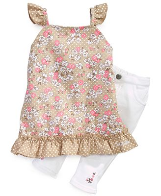 Calvin Klein Baby Set, Baby Girls 2-Piece Tunic and Jeggings