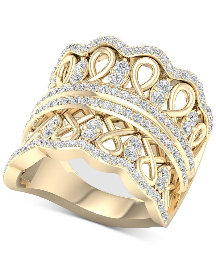 Macy's - Diamond Crown Statement Ring (1 ct. t.w.) in 14k Gold