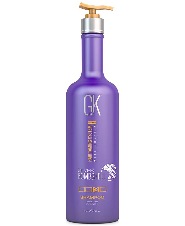 Global Keratin GKHair Silver Bombshell Shampoo, 24-oz., from PUREBEAUTY Salon & Spa