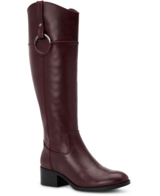 Bexleyy Wide-Calf Riding Leather Boots