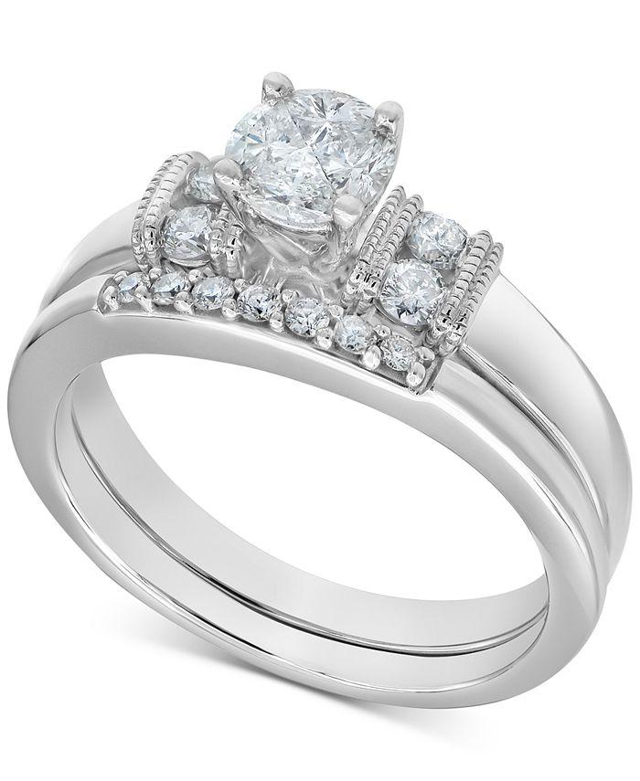 Macy's - Diamond Bridal Set (1/2 ct. t.w.) in 14k White Gold