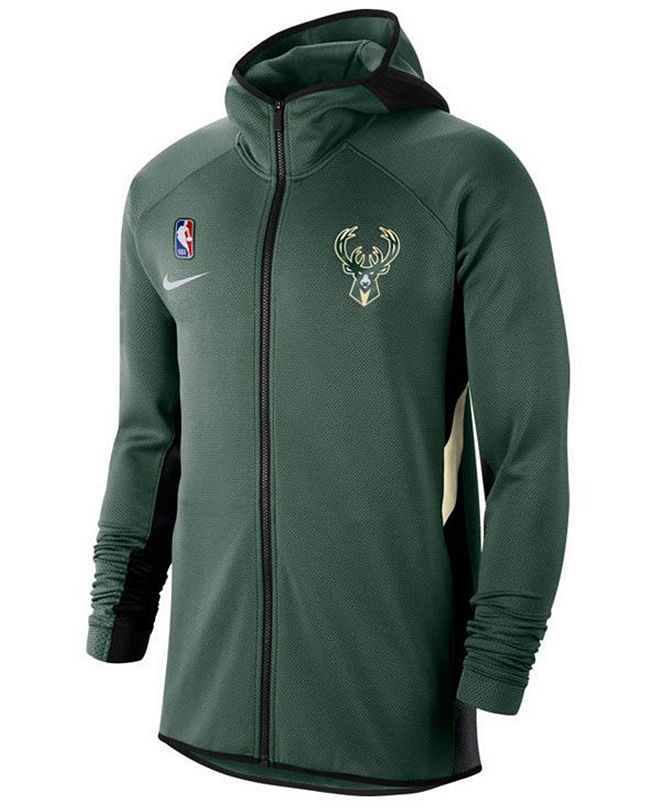Nike Men's Milwaukee Bucks Thermaflex Showtime Full-Zip Hoodie