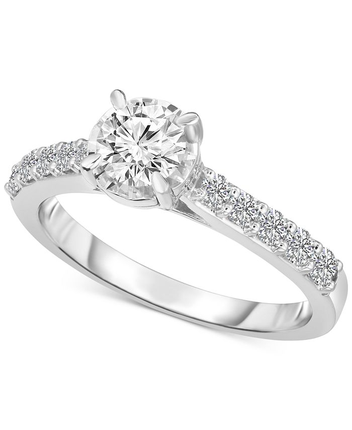 TruMiracle - Solitaire Engagement Ring (1 ct. t.w.) in 14k White Gold