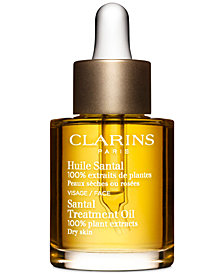 Clarins Santal Face Treatment Oil-Dry or Extra Dry Skin, 1 oz