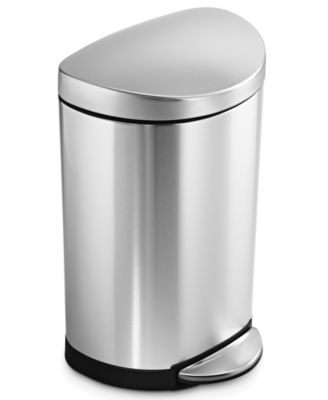 simplehuman Trash Can, Deluxe Mini Semi-Round 10L