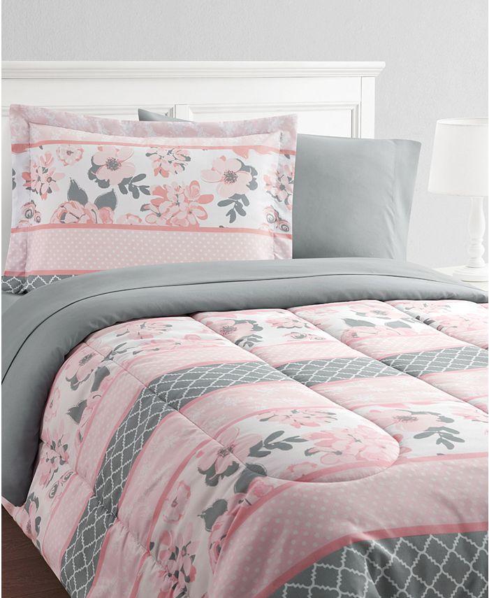 Mytex - Carley Stripe 11-Piece Bed in a Bag Set